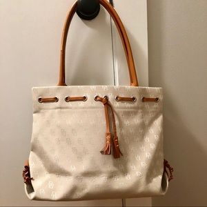 Dooney & Bourke Monogram Tassel Tote